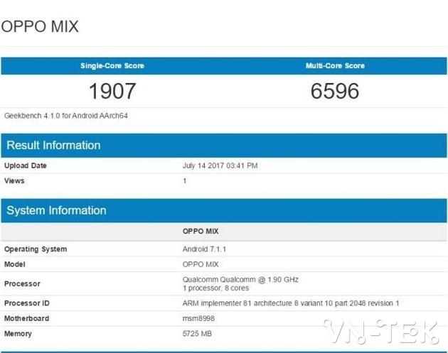 Oppo MIX 2 - Oppo MIX viền siêu mỏng, camera Zoom 5X, ra mắt tháng 11