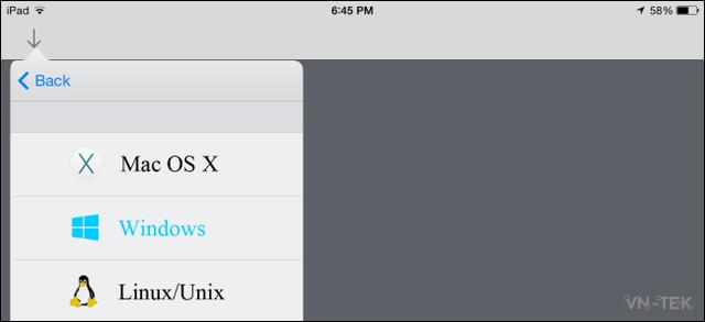chia se thu muc 8 - Truy cập thư mục trên máy Windows từ điện thoại