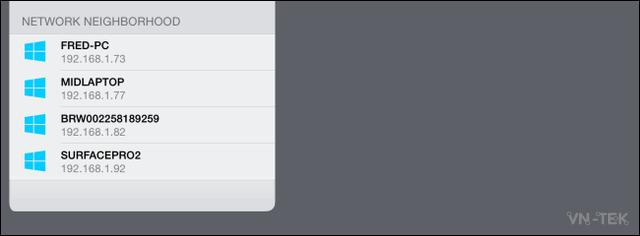 chia se thu muc 9 - Truy cập thư mục trên máy Windows từ điện thoại