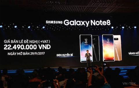 galaxy note 8 1 - Galaxy Note 8 về Việt Nam với giá 22,5 triệu đồng