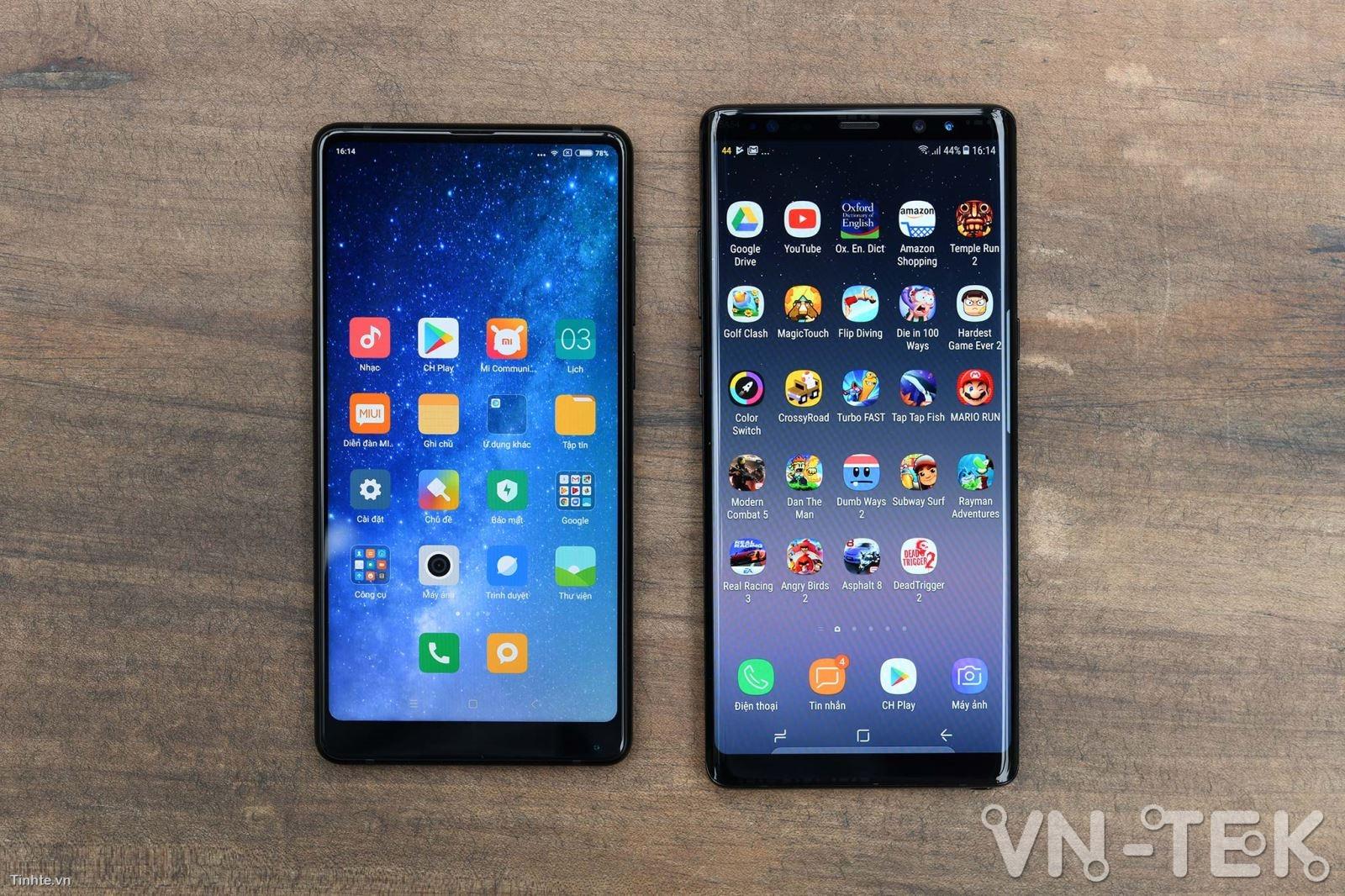 galaxy note8 xiaomi mi mix 2 1 - Galaxy Note8 và Xiaomi Mi Mix 2 cuộc chiến màn hình vô cực