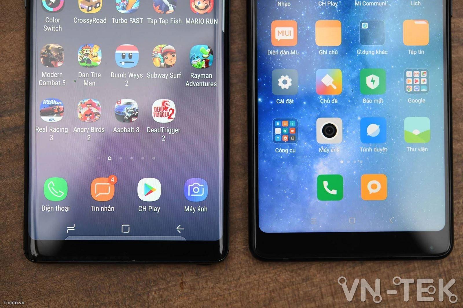 galaxy note8 xiaomi mi mix 2 5 - Galaxy Note8 và Xiaomi Mi Mix 2 cuộc chiến màn hình vô cực