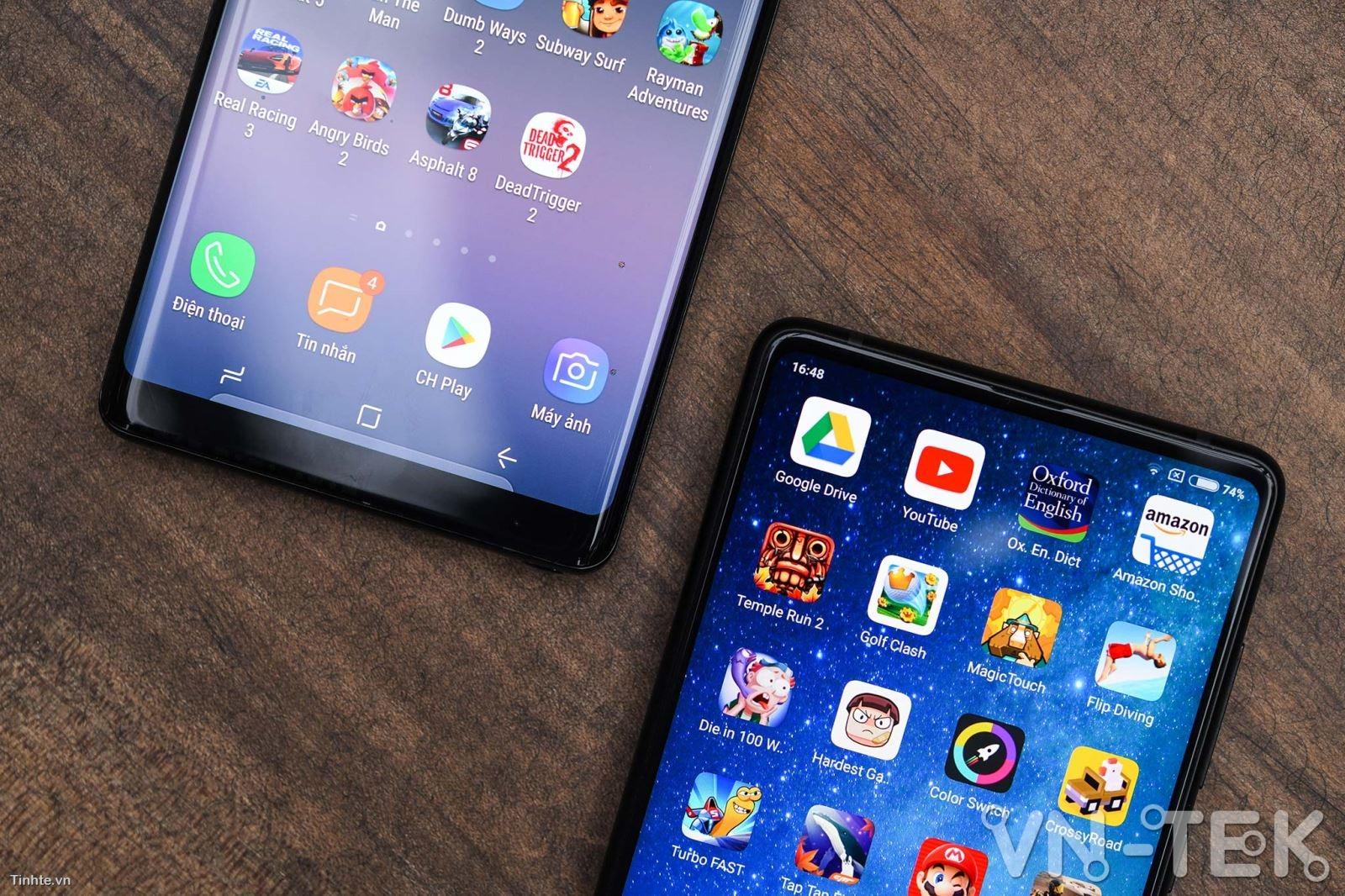 galaxy note8 xiaomi mi mix 2 7 - Galaxy Note8 và Xiaomi Mi Mix 2 cuộc chiến màn hình vô cực