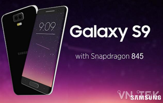 galaxy s9 with snapdragon 845 - Galaxy S9 là điện thoại đầu tiên dùng chip Snapdragon 845