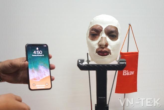 bkav danh lua face id 3 - Mặt nạ Bkav đánh lừa Face ID trên iPhone X có giá 3,4 triệu