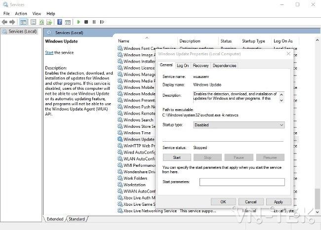 tat cap nhat windows 10 tu dong 3 - Hướng dẫn tắt update Windows 10 chặn tự động cập nhật vĩnh viễn