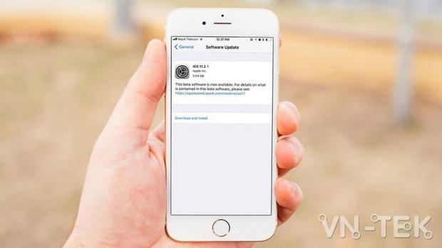 cap nhat ios 11 2 5 beta 1 - Hướng dẫn cập nhật iOS 11.2.1 chính thức và iOS 11.2.5 Beta 1