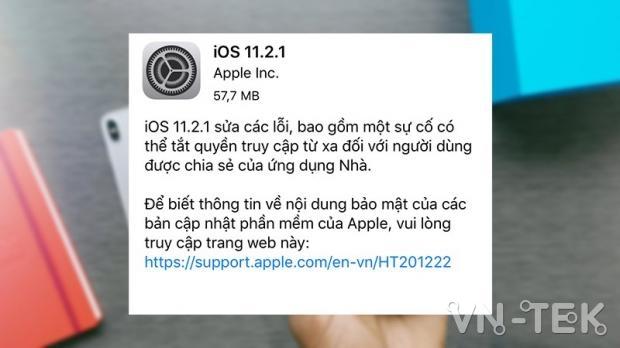 cap nhat ios 11 2 5 beta 2 - Hướng dẫn cập nhật iOS 11.2.1 chính thức và iOS 11.2.5 Beta 1