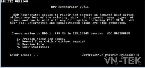 sua bad o cung bang hdd regenerator 4 - Hướng dẫn sửa BAD ổ cứng bằng HDD Regenerator