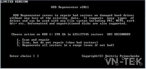 sua bad o cung bang hdd regenerator 5 - Hướng dẫn sửa BAD ổ cứng bằng HDD Regenerator