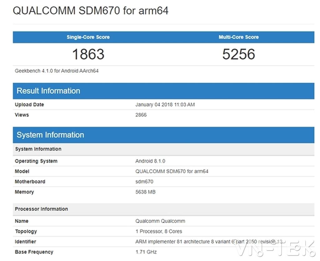 snapdragon 670 3 - Snapdragon 670 có hiệu suất đồ họa mạnh ngang Snapdragon 820