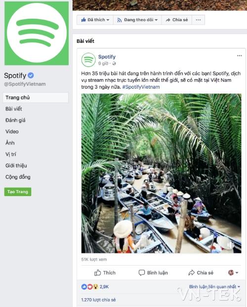 Spotify - Dịch vụ nghe nhạc trực tuyến lớn nhất thế giới Spotify vào Việt Nam