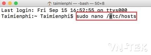 cach chinh sua file hosts tren mac 4 - Hướng dẫn cách chỉnh sửa file Hosts trên Mac OS