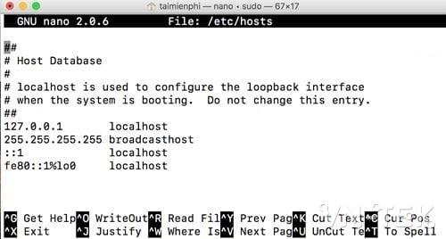 cach chinh sua file hosts tren mac 6 - Hướng dẫn cách chỉnh sửa file Hosts trên Mac OS