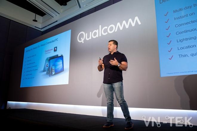 Ong Alex Katouzian Pho chu tich va Tong quan ly mang kinh doanh di dong Qualcomm Technologies Inc tai Computex 2018 - Máy tính Windows 10 dùng chip Snapdragon 850 ra mắt cuối năm 2018