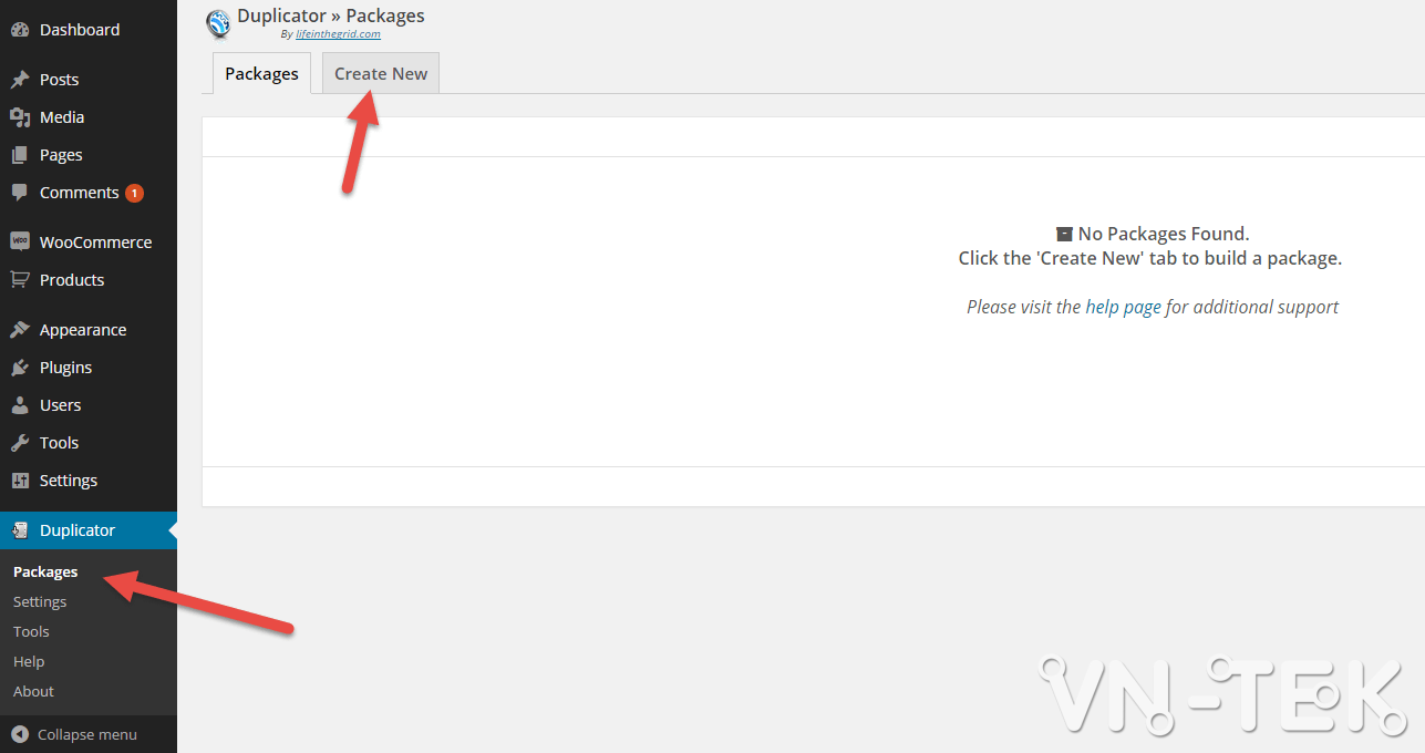 chuyen host worspress bang duplicator 1 - Hướng dẫn chuyển host nhanh chóng cho Wordpress bằng plugin Duplicator