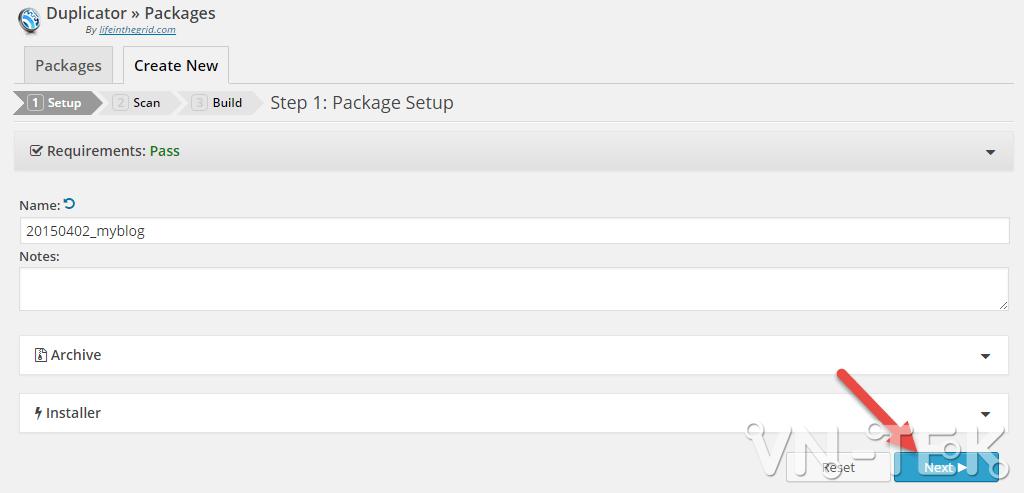 chuyen host worspress bang duplicator 2 - Hướng dẫn chuyển host nhanh chóng cho Wordpress bằng plugin Duplicator