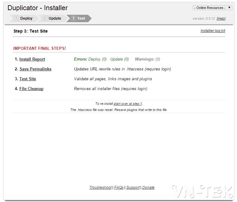 chuyen host worspress bang duplicator 8 - Hướng dẫn chuyển host nhanh chóng cho Wordpress bằng plugin Duplicator