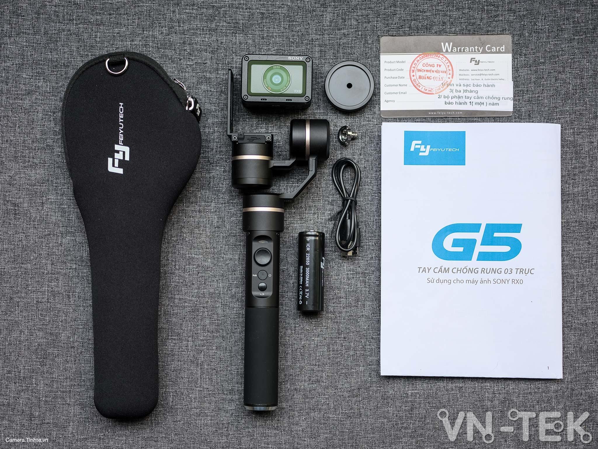 gimbal feiyu g5 3 - Trên tay và trải nghiệm Gimbal Feiyu G5 bản mod cho Sony RX0