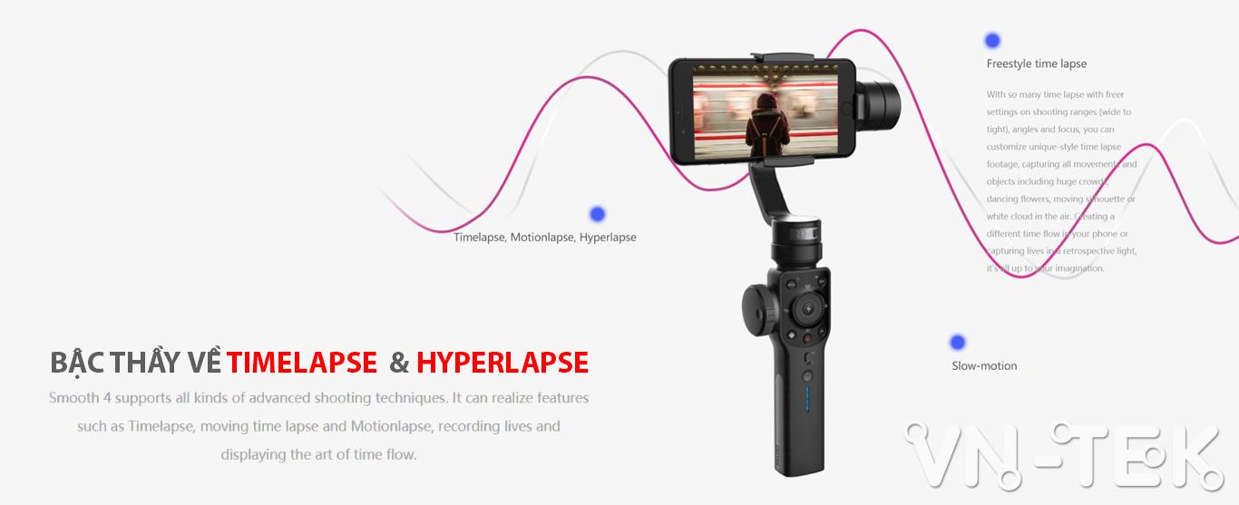 gimbal smooth 4 info 4 - Đánh giá gimbal Zhiyun Smooth 4 cho điện thoại di dộng và GoPro