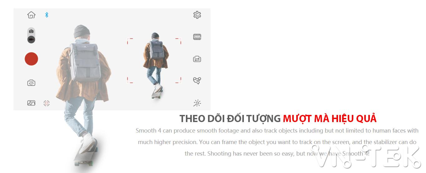 gimbal smooth 4 info 5 - Đánh giá gimbal Zhiyun Smooth 4 cho điện thoại di dộng và GoPro