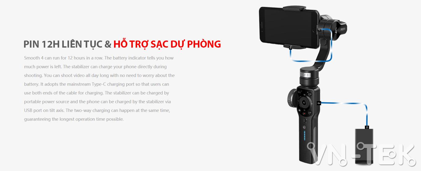gimbal smooth 4 info 6 - Đánh giá gimbal Zhiyun Smooth 4 cho điện thoại di dộng và GoPro