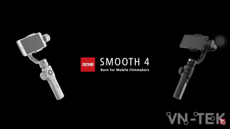 gimbal smooth 4 - Đánh giá gimbal Zhiyun Smooth 4 cho điện thoại di dộng và GoPro