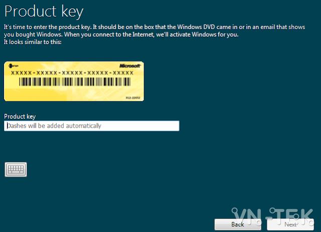 enter product key for windows - Chia sẻ key cài đặt Windows tất cả các phiên bản