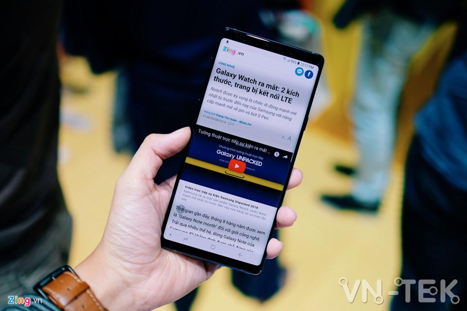 galaxy note9 10 - Galaxy Note9 vừa ra mắt: To, sắc sảo và thông minh hơn