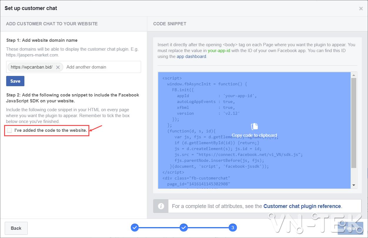 tich hop facebook chat cho website khong can dung plugin 16 - Tích hợp Facebook Chat cho website không cần dùng plugin
