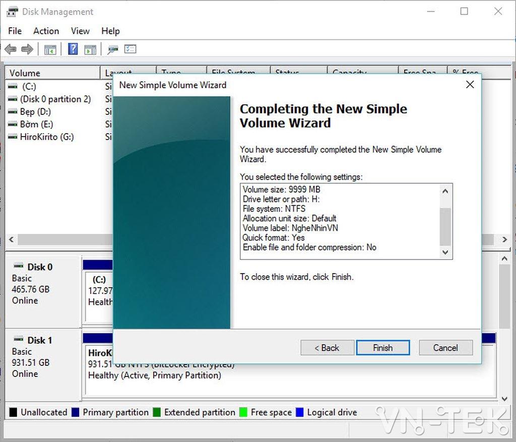 disk management 12 - Hướng dẫn chia và gộp ổ cứng trực tiếp trên Windows