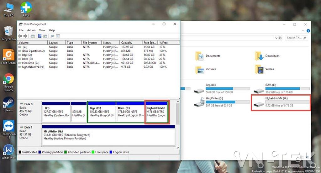 disk management 13 - Hướng dẫn chia và gộp ổ cứng trực tiếp trên Windows