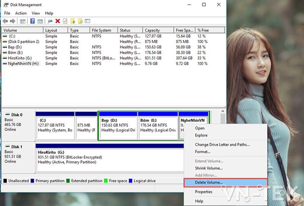 disk management 15 - Hướng dẫn chia và gộp ổ cứng trực tiếp trên Windows