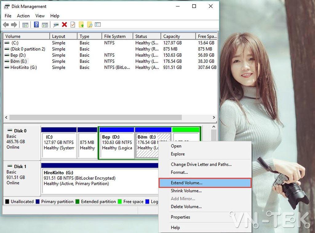 disk management 17 - Hướng dẫn chia và gộp ổ cứng trực tiếp trên Windows