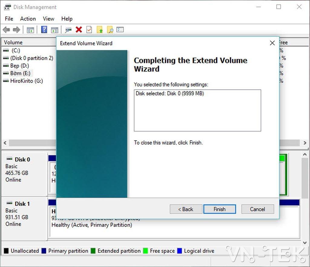 disk management 20 - Hướng dẫn chia và gộp ổ cứng trực tiếp trên Windows