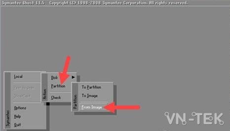 ghost windows tu o cung 10 - Cách ghost Windows 10, 8.1, 7 từ ổ cứng HDD, không cần usb