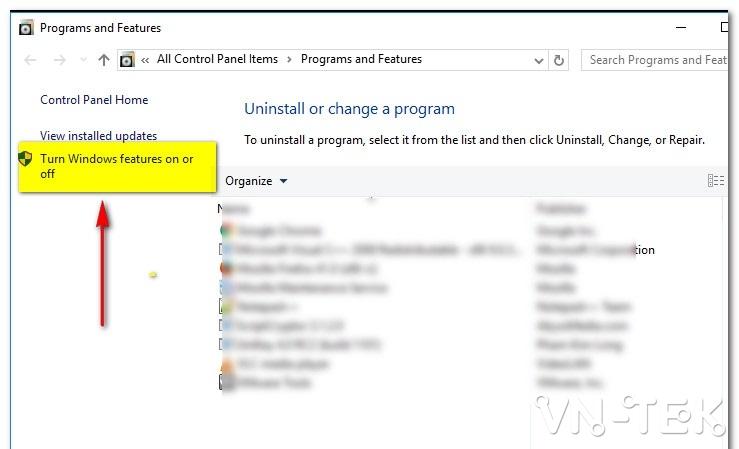 huong dan cai dat IIS trong windows 10 1 - Hướng dẫn cài đặt dịch vụ IIS trên Windows 10