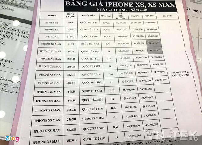 iphone xs gia lien tuc giam 1 - iPhone XS xách tay Mỹ về Việt Nam, giá tiếp tục giảm