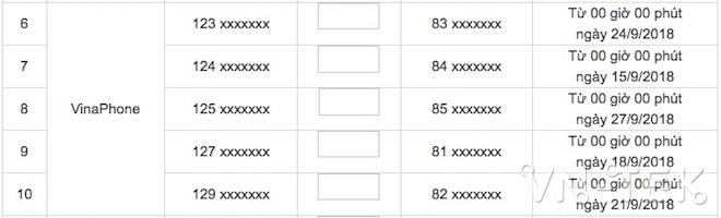 lo trinh chuyen sim di dong 11 so 3 - Lộ trình chuyển đổi mã mạng di động 11 số của thuê bao VSAT