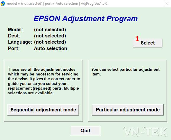 reset epson printer 1 - Hướng dẫn reset mực máy in Epson L110, L210, L300, L350, L355 bằng resetter tool