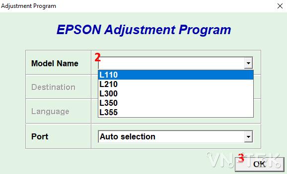 reset epson printer 2 - Hướng dẫn reset mực máy in Epson L110, L210, L300, L350, L355 bằng resetter tool