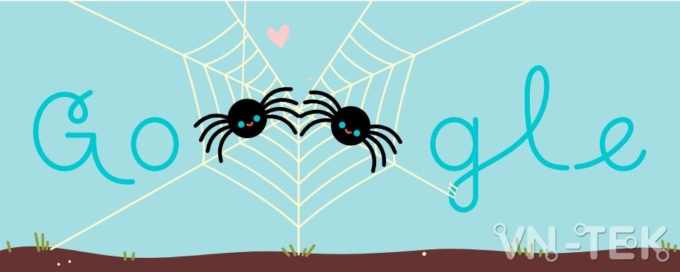 valentines day - Google tôn vinh ngày Valentine 14/2 bằng giun đất, cánh cam và nhện