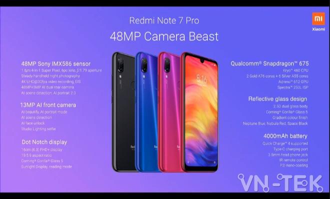redmi note 7 pro 1 - Redmi Note 7 Pro chính thức ra mắt dùng chip Snapdragon 675