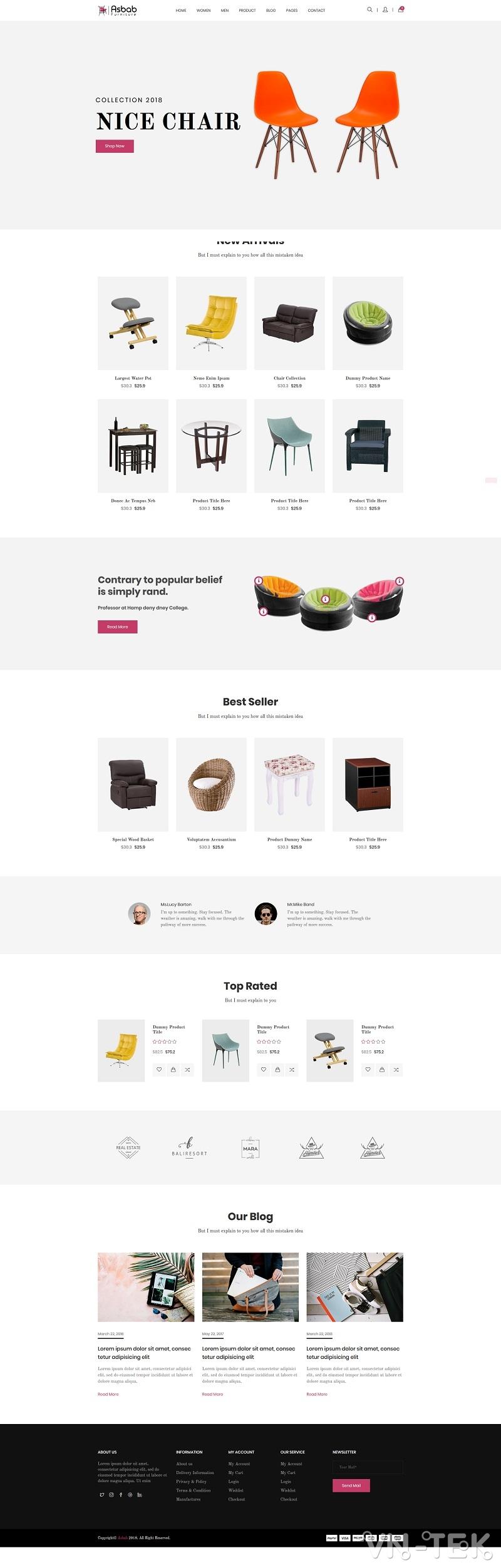 Asbab - Share 3 mẫu website bán hàng cực đẹp (Template HTML)