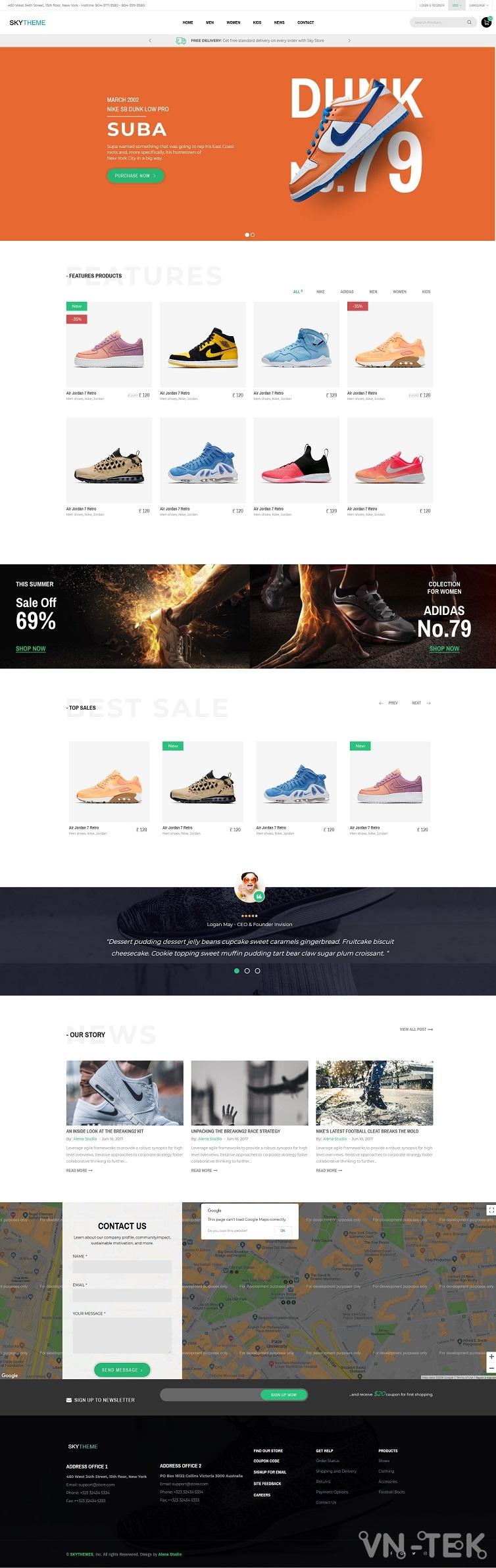 skytheme - Share 3 mẫu website bán hàng cực đẹp (Template HTML)